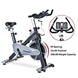 TECHMOO Home Fitness Upright Exercise Bike Magnetic Resistance Belt Drive Home Cycling X Exercise Bike Indoor Stationary Bike Bicycle for Cardio Workout Losing Weight
