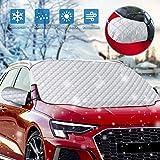 Copertura Parabrezza Auto, Protezione Parabrezza Antighiaccio Neve Polvere Anti-UV Parasole Telo per Macchina con 8 Magneti, Impermeabile Ripiegabile Copri Parabrezza Universale per Auto 147x116CM