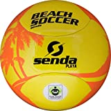 SENDA Playa Beach Soccer Ball, Fair Trade Certified, Orange/Yellow, Size 4 (Ages 8-12)