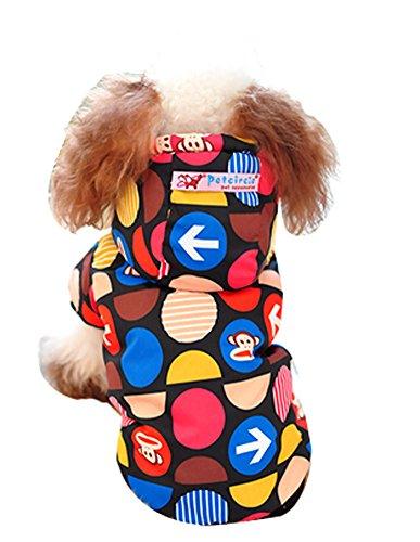 Blancho confortable d'hiver pour chien Veste imperméable pour animal domestique Vêtements (Rouge, taille : L)