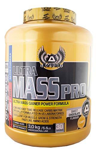 MASS GAINER ULTRA | ARES - 3 kg - ULTRA MASS GAINER POWER FORMULA (Fresa)