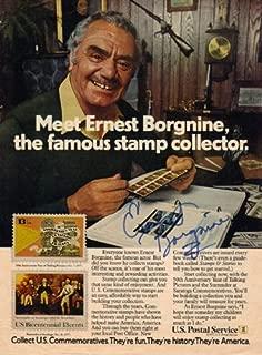 Ernest Borgnine Autographed Signed Magazine Page UACC RD COA AFTAL