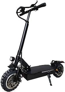 電動 キックボード キックスクーター 23.4Ah 60V 1600W折りたたみ電動スクーター最高速度毎時60キロマックス。シート・EUプラグなしで200キロのシングルモーターフロントホイール衝撃吸収 大人と子供向けの電動ブレーキ (色 : ブラック, サイズ : ワンサイズ)