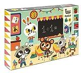 PETIT MONKEY- Puzzle 24 Horas En El Colegio, Multicolor (pmg005)