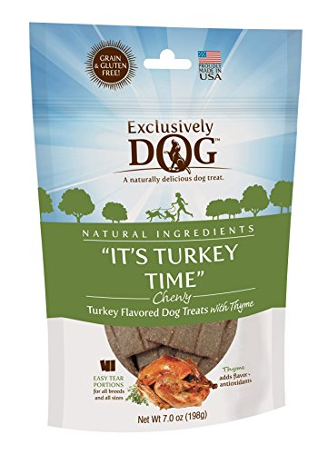 """Exclusively Pet """"It's Turkey Time"""" Dog Treats, One Size"""