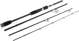 Blesiya Portable Carbon Fiber Ultralight Travel Fishing Rod 4 Piece Sea Spinning Rod