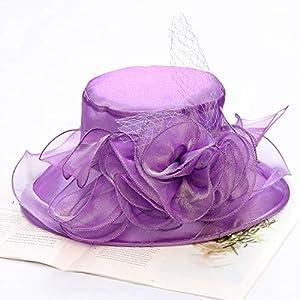 SHENLIJUAN Summer Sun Hat Organza Flowers Korean Version of The Collapsible Sun Hat Large Brimmed Beach Hat Summer Hat Mesh