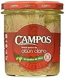 Campos, Conserva de atún claro en aceite de oliva, frasco de cristal - 315 gr.