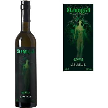 Absinth Strong68 | Mit Wermut/Thujon | 68% | Ohne Farbstoff | Das Original | (1x 0.5 l)