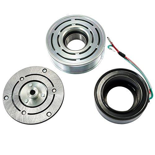 A/C AC Compressor Clutch Repair Kit - Clutch Hub Pulley Coil Bearing replacement for Honda Civic 1.8L 2006 2007 2008 2009 2010 2011