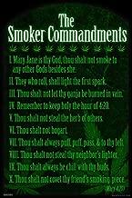 Pyramid America The Smoker Commandments Marijuana Weed Stoner 420 Funny College Cool Huge Large Giant Poster Art 36x54