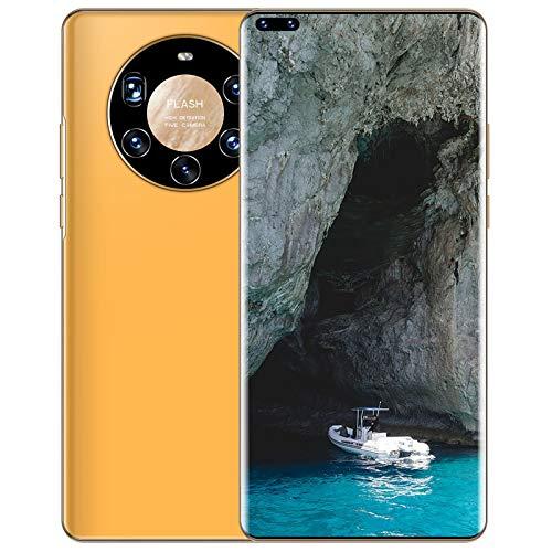 XIAOQIAO Smartphone Mate40 Plus + Großbild-Mobiltelefon, Android 10.0 AI-Fähiger, Integrierter Starker Deca-Core-Prozessor mit Verglaster 3D-Rückseite