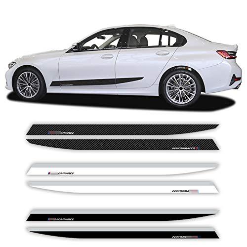 FANGPAN 2 pegatinas para puerta de coche con diseño de rayas laterales M Perfromance para el cuerpo, para BMW Serie 3 G20 2019-presente M340i accesorios