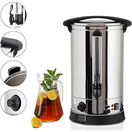 Melko Heißgetränkeautomat 7 Liter mit Zapfhahn für Milch, Kaffee, Tee, Kakao, Glühwein Getränkespender 1500W Einkochautomat, zum Erwärmen, Warmhalten, Einkochen