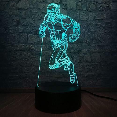 Lampada Da Illusione 3D Lampada Da Tavolo A Led Marvel Hero Lampadario In Lampadina Multicolore Camera Da Letto Giocattoli Regali Per I Regali Di Festa Di Compleanno Dei Bambini
