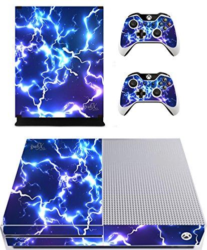 Azul eléctrico de vinilo/Skin Xbox Una consola S & mando a distancia pegatinas, XBS4