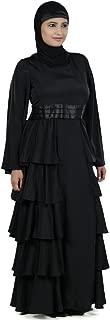 MyBatua Women's Designer Akifah Abaya in Black