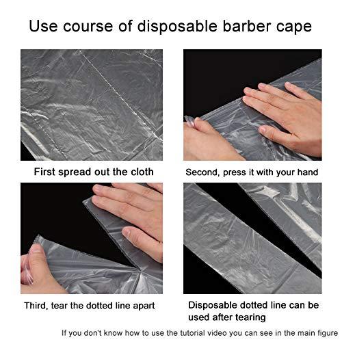 50Pcs Disposable Waterproof Hair Salon Capes Hair Coloring Cape Haircut Apron Shampoo Cape Barber Tools Hair Salon…
