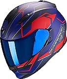 Scorpion Casco de moto EXO-510 AIR BALT Matt Blue -Red, Azul