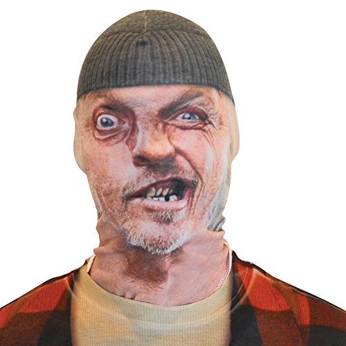 Faux Real Unisex-Adult's Toothless Man Mask, White, OSFM