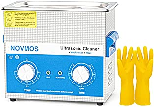 Ultrasonic Cleaner - NOVMOS 3L Ultrasound Cavitation Machine,ultrasonic Parts Cleaner,Sonic Cleaner with Mechanical Timer and Heater for Cleaning Denture,Jewelry,Carburetor,Gun,Lab,Dental Tool,glasses