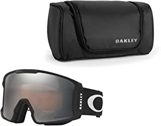 Oakley Line Miner Snow Goggle (Matte Black Frame/Prizm Black Iridium Lens) with Large Goggle Soft Case