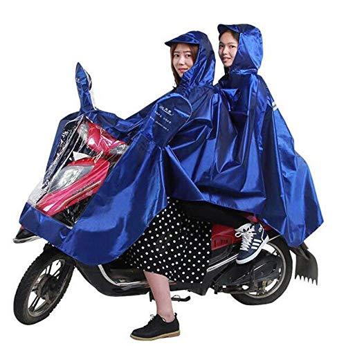 ZXL Waterdichte regenjas voor volwassenen, accu voor auto, motorfiets en heren, dubbele poncho verhoogt elektrische fiets, regenkleding groen