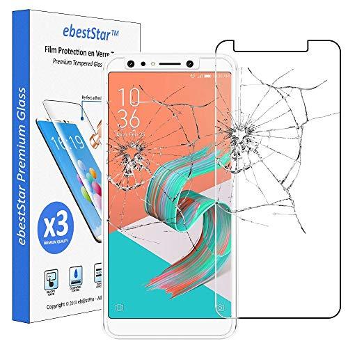 ebestStar - [Lote x3 Cristal Templado Compatible con ASUS Zenfone 5 Lite...