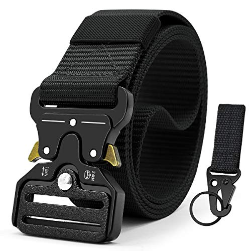 "Doopai Tactical Belt,Military Style Quick Release Metal Buckle Belt,1.5"" Heavy-Duty Nylon Riggers Belts for Men"