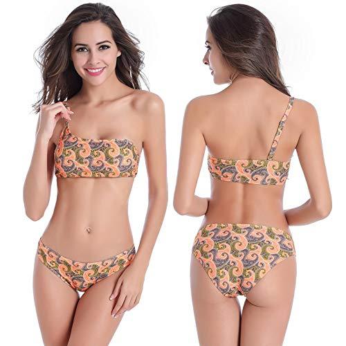 GUOZI Bikini Push Up Bikini Set Groen Enkele Schouder Women'S Badpak Plus Size Badmode