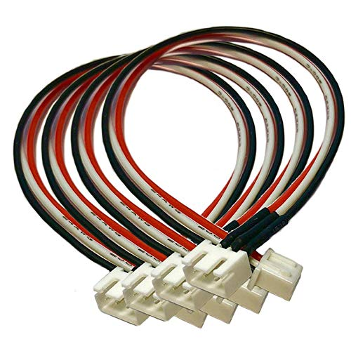 VUNIVERSUM 4X Stück JST-XH Premium 2S 3Pin Balancerkabel 30cm Kabel Verlängerung Ladekabel XH Stecker auf Buchse 24AWG Balancer Adapterkabel Lipo Akku von Mr.Stecker Modellbau®