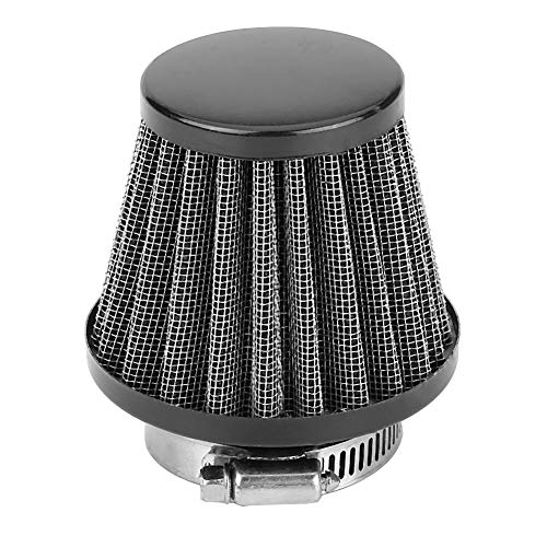 Motorcycle 38mm Air Filter Fuel Cleaner for 49cc 50cc 70cc 90cc 110cc 125cc 150cc 200cc ATV Quad Dirt Pit Bike Gy6 Scooter Go Kart (Black)