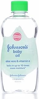 JOHNSON'S Baby Oil, Aloe Vera & Vitamin E 14 oz (Pack of 3)