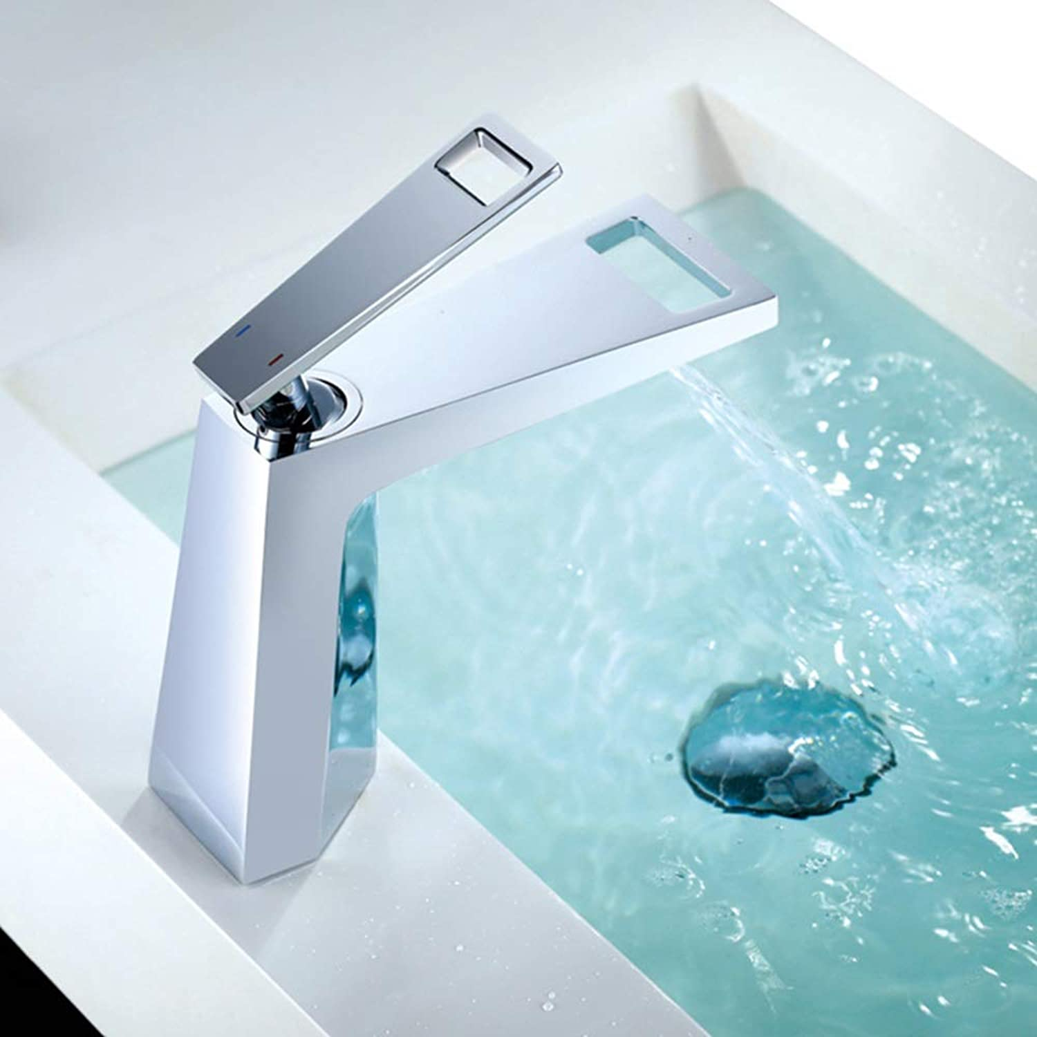Durable New Square Basin Faucet stereoscopic Copper Hot And Cold Basin Faucet Hardware Bathroom Basin Faucet practical