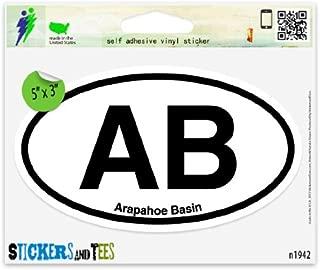 AB Arapahoe Basin Oval Car Sticker Indoor Outdoor 5