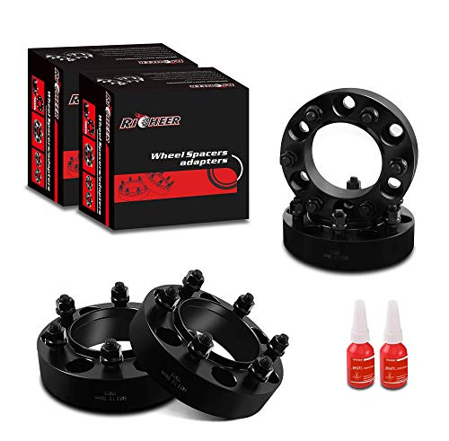 Richeer Wheel Spacers 6x5.5 for Tacoma 4Runner Tundra FJ Cruiser Isuzu,1.5' Forged Spacer 6x139.7, 12x1.5 Studs & 106mm Center Bore