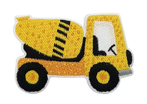 Parche termoadhesivo con diseño de hormigonera, para niños, camión, excavadora, parche para planchar, obras, parche para planchar Finally Home