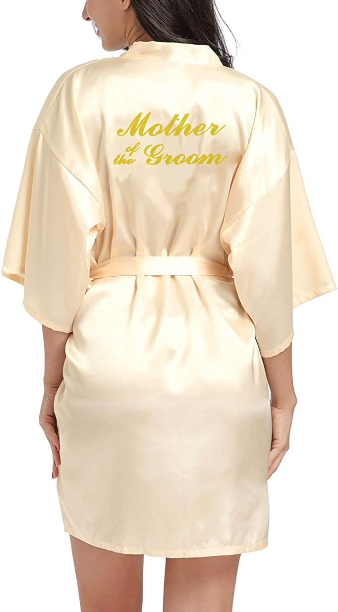 Lovacely Women's Satin Kimono Max 44% Max 58% OFF OFF Robe Bridesmaid for Bride Mother