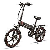 TypeBuilt E-Bike Klapprad 20 Zoll Elektrofahrrad Klappfahrrad 48V 8Ah Lithium-Batterie, Leicht Und...