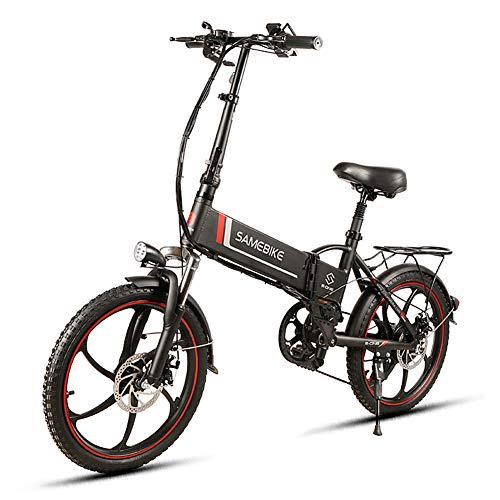 TypeBuilt E-Bike Klapprad 20 Zoll Elektrofahrrad Klappfahrrad 48V 8Ah Lithium-Batterie, Leicht Und Praktisch 7-Gang Getriebe,Fetter Reifen Ebike, 48V 15AH,500W