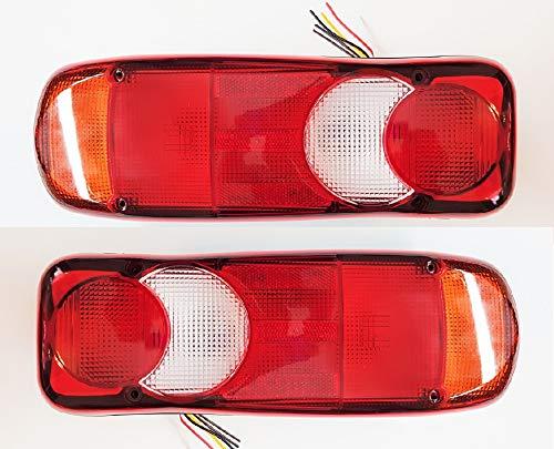 VNVIS 2 feux arrières lampe pour camion, benne basculante, tracteur, remorque, châssis - ampoules universelles fonctionnant en 12 V et 24 V