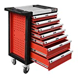 Upgrade Package DNA MOTORING 30' W X 39' H X 18' D Heavy Duty Lockable Slide Tool 7-Drawer Chest Rolling Tool Cart Cabinet (TOOLS-00001) with Keys