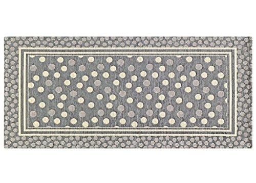 BIANCHERIAWEB Tappeto Passatoia Runner Cucina Antiscivolo Lavabile Disegno Sphere Suardi 55x115 cm Grigio