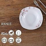VEWEET Tafelservice 'Annie' aus Porzellan 18 teilig   Tellerset für 6 Personen   Mit je 6 Dessertteller, Tiefteller und Flachteller - 3