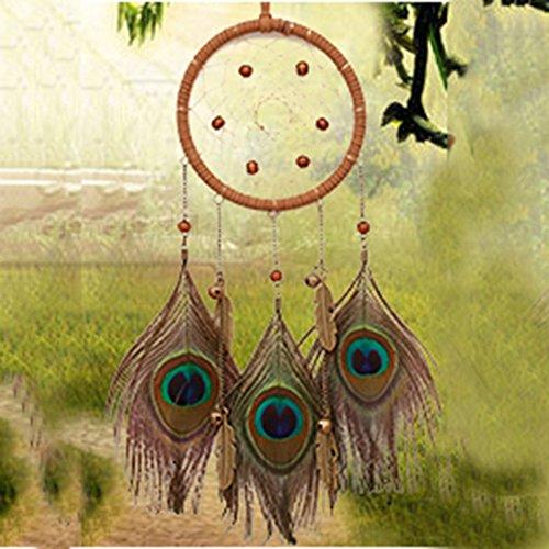 Plume De Paon Dream Catcher - Tradition Indienne À La Main,A,1Pcs