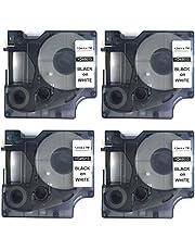 ماكينة ملصقات متوافقة مع شريط الملصقات المعياري دايمو D1، مقاس 12 ملم × 7 ملم من نيوزا