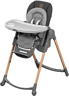Maxi-Cosi Minla Hochstuhl, höhenverstellbarer Kinderstuhl, nutzbar ab der Geburt bis ca. 6 Jahre max. 30kg, verstellbarer Rückenlehne & Liegefunktion, Essential Graphite grau