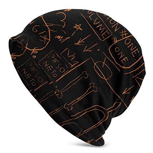lymknumb Gorras de reloj de trineo, gorro de gorro, gorro de calavera holgada, sombreros resistentes, gorro de punto para hombre, gorro holgado holgado, Jean-Michel Basquiat