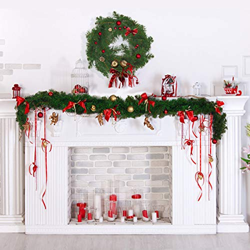 KENSWINO Garland for Christmas Decorations Christmas Garland for Outdoor or Indoor Use Great for Mantel Table Centerpieces or Other Holiday Decor-8.85ft(Pack of 10)