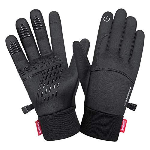 coskefy Guanti Moto Invernali Guanti Touch Screen da Uomo e Donna Guanti da Lavoro e Ciclismo Guanti Neve Antivento Sportivi Gloves per Moto, Bici, Corsa, Guida, Sci, Running, Alpinismo, Nero